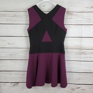 BCBG MAXAZRIA | Colorblock Aloissa Midi Dress